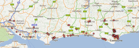 map-of-sunhive-uk-pv-installations